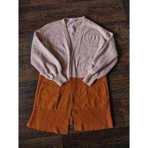 Madewell Blush Pink Burnt Orange Wool Cardigan XS